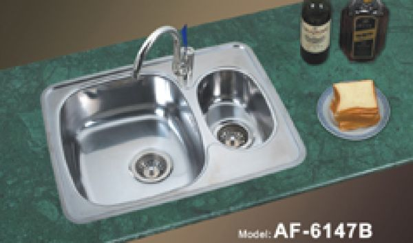 Stainless Steel Kitchen Sinks Two Bowl