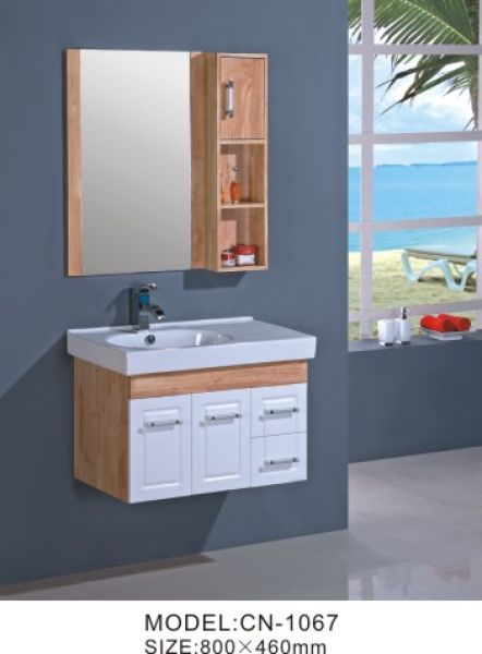 Bathroom Wood Wall Mounted Cabinets