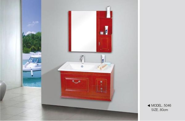 Cherry Bathroom Cabinets