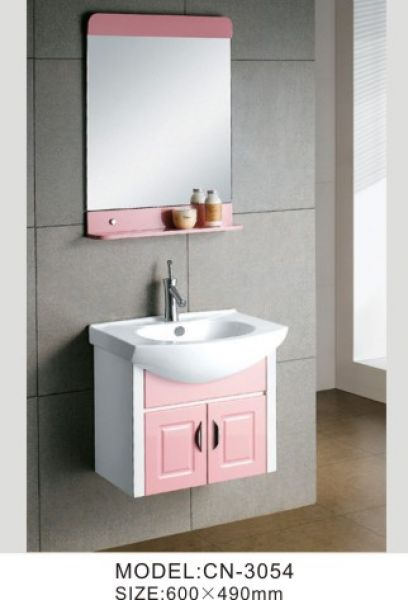 Pink Bathroom Storage Cabinet