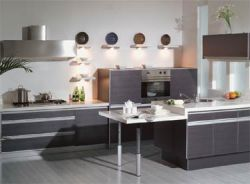 PVC Laminated Kitchen Cabinets